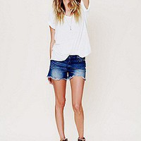 Free People  5 Pocket Cuffed Denim Cutoff at Free People Clothing Boutique