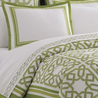 Jonathan Adler green parish duvet cover