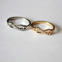 Delicate Infinity Ring [kz73-2] - $2.99 :cheap fashion jewelry,Cheap rings,necklace,bracelets, jewelry wholesale--Favor21.com