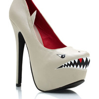 Killer-Shark-Pumps GREY NUDE - GoJane.com