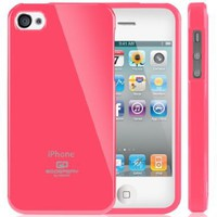Goospery Slim Fit Flexible TPU Jelly Case for Apple iPhone 4 (Hot Pink):Amazon:Cell Phones & Accessories