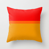 Re-Created Playing Field XLVII Throw Pillow by Robert Lee
