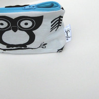 Owl Pouch. Coin Purse. Change Wallet. Design Your Own Choose Interior and Zipper. Teacher Gift. Bridesmaid Gift. Black and White accessory.