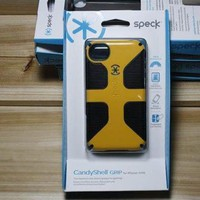 New Speck CandyShell Grip Case Cover for Apple iPhone 4 4S Yellow/Black