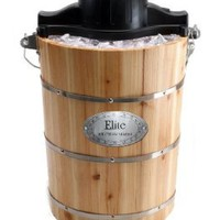 Maxi-Matic EIM-506 Elite Gourmet 6-Quart Old-Fashioned Pine-Bucket Electric/Manual Ice-Cream Maker:Amazon:Kitchen & Dining