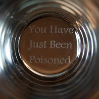You Have Just Been Poisoned Glass-- Perfect Glass To Serve A Drink To That Arch Villain, Nemesis Or Fellow Prisoner!!-- Funny High Quality Pint Glass Printed & Test in The USA!!