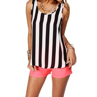 BlackIvory Sleeveless Striped Top