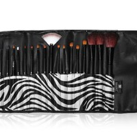 SHANY Cosmetics Urban Gal Collection Brush Kit (18 Piece Pro Brushes with Zebra Magnetic Pouch), 13 Ounce:Amazon:Beauty