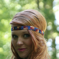 Boho Headband Crochet Multi Color  Hair Fashion Elastic Closure Headband