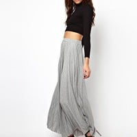 River Island Pleated Maxi Skirt at asos.com