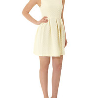 Lemon spot jacquard prom dress - View All  - Dresses