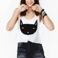 Black Cat Crop Tank