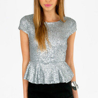 Diva Peplum Top $35