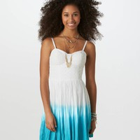 AE Dip-Dyed Corset Dress | American Eagle Outfitters