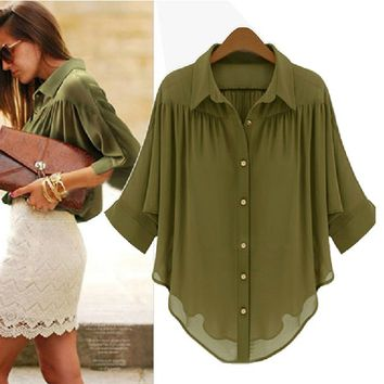 PenBangs — Loose Chiffon Blouse for Summer