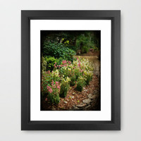 Along the Garden Path Framed Art Print by Rainey's View