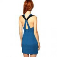 Bqueen Cross-back Cutout Dress K288L - Designer Shoes|Bqueenshoes.com