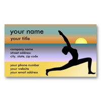 Yoga At The Beach Business Cards from Zazzle.com
