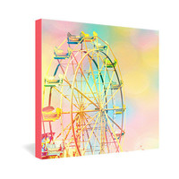 DENY Designs Home Accessories | Shannon Clark Ferris Wheel Fun Gallery Wrapped Canvas