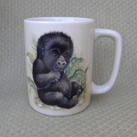Mountain Gorilla Otagiri Coffee Mug - Fraser Endangered Collection | MugZee - Ceramics & Pottery on ArtFire