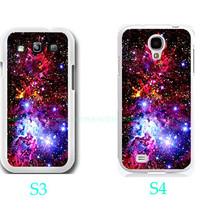 Fox Fur Nebula Galaxy Space Case-Samsung Galaxy S3 ,Samsung Galaxy S4 ,you can choose S3 or S4-includes screen protector and cleaning cloth