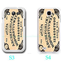 Gothic Halloween Vintage Ouija Board Photo-Samsung Galaxy S3 ,Samsung Galaxy S4 ,you can choose S3 or S4-screen protector and cleaning cloth