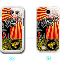 Obey Elephant Bird Photo-Samsung Galaxy S3 ,Samsung Galaxy S4 ,you can choose S3 or S4-includes screen protector and cleaning cloth