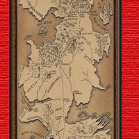 Personalized Game of thrones map iPhone 4 case iPhone 4s case Plastic case - includes screen protector and cleaning cloth