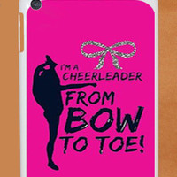 Personalized iPad mini case - Bow to Toe- includes screen protector and cleaning cloth -plastic ipad mini cover