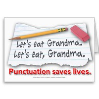 Punctuation Saves Lives Cards from Zazzle.com