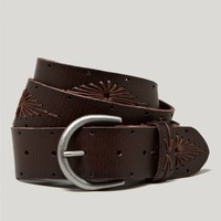 AEO Embroidered Leather Belt | American Eagle Outfitters