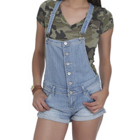Roll Cuff Bib Shortall Short | Shop Shorts at Wet Seal