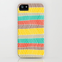 Beach Stripe (warm) iPhone & iPod Case by Jacqueline Maldonado