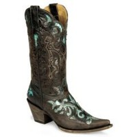 Sheplers: Stetson Distressed Python Inlay Cowgirl Boot - Pointed
