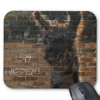 Llama Graffiti on Brick Wall, Spit Happens from Zazzle.com