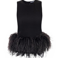 Feather-trimmed top | Alexander McQueen | MATCHESFASHION.COM