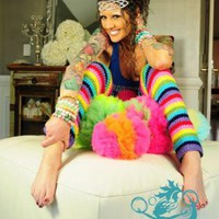 Rainbow Leg Warmers by Mademoiselle Mermaid