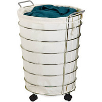 Walmart: Honey Can Do Chrome Rolling Hamper