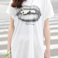 White Lip Graphic Tee