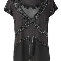 sass & bide |  SHADES OF GREY - black | tees | sass & bide