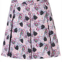Panther Print Skirt - Skirts  - Clothing