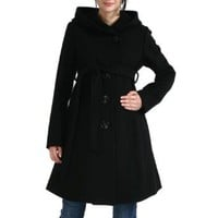 Amazon.com: Momo Maternity Women's Wool Blend 'Lauren' Belted Coat with Hood: Clothing