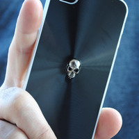 iPhone Black Skull Stud Hard Case 4 4s by theblackfeather on Etsy