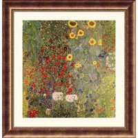Great American Picture Garden with Sunflowers Bronze Framed Print - Gustav Klimt - 223771-Bronze - All Wall Art - Wall Art & Coverings - Decor
