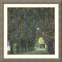 Great American Picture Allee im Park von Schloss Kammer Silver Framed Print - Gustav Klimt - 109994- - All Wall Art - Wall Art & Coverings - Decor
