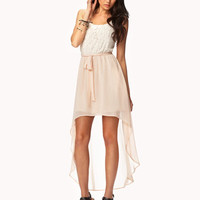Floral Lace High-Low Dress | FOREVER 21 - 2050387084