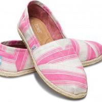 Pink Umbrella Stripe Women's Classics | TOMS.com