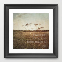 The Wanderer Framed Art Print by Ally Coxon
