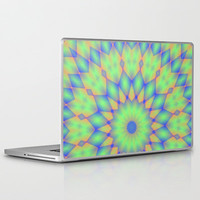 Tricolor Mandala Laptop & iPad Skin by Lyle Hatch