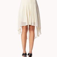 Box Pleated High-Low Skirt